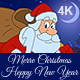 Christmas And New Year Animated Card With Santa Claus 4K - VideoHive Item for Sale