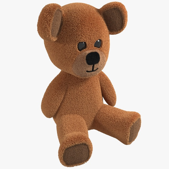 Toy Teddy Bear fur soft - 3DOcean Item for Sale