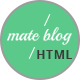 Mate Blog - Responsive Personal Blog Template - ThemeForest Item for Sale