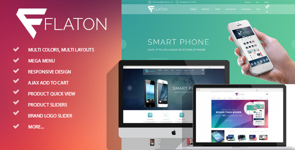 Flaton - Responsive Shopify Digital Theme - Technology Shopify