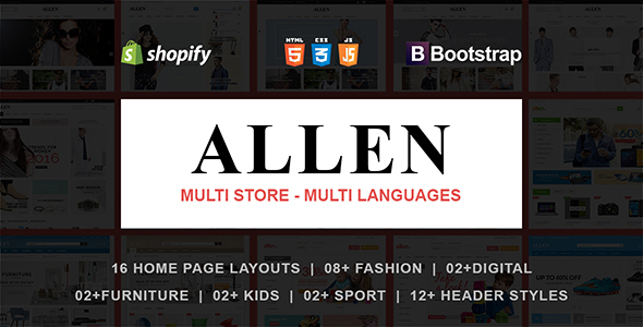 Allen - Responsive Shopify Theme - Shopify eCommerce