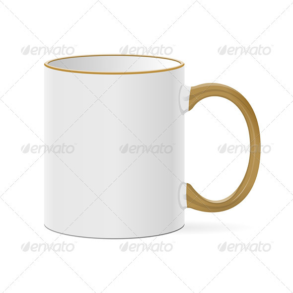 White Coffee Mug - Objects Vectors