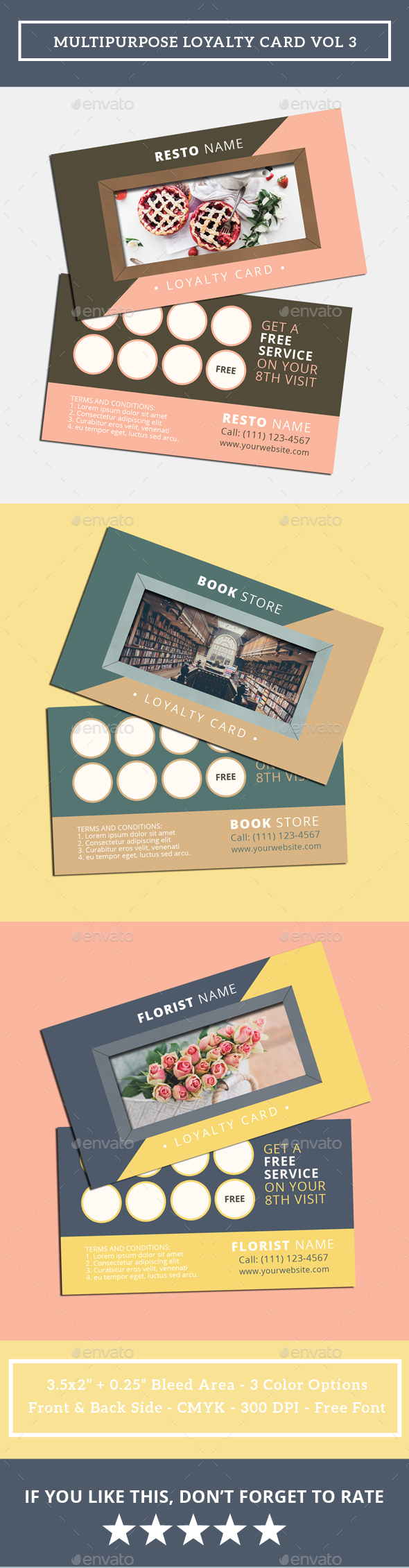 Multipurpose Loyalty Card Vol 3 - Loyalty Cards Cards & Invites