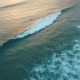 Surfers On The Waves In The Evening At Sunset Aerial View - VideoHive Item for Sale