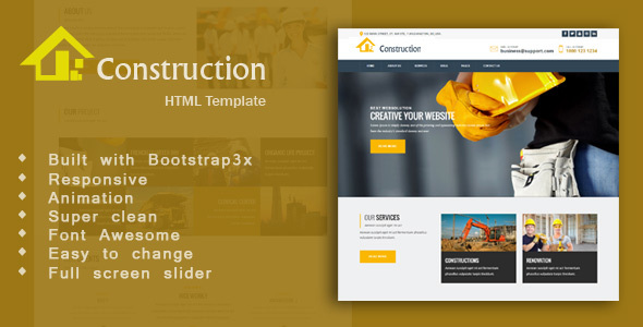 Construction - Industry & Engineering Business HTML5 Template