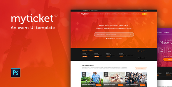 MyTicket – an Event Theme PSD