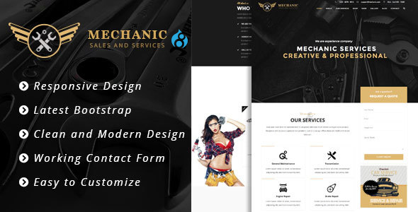 Mechanic - Car Service & Workshop Bootstrap Drupal 8 Theme