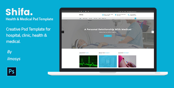 Shifa – Health & Medical PSD Template
