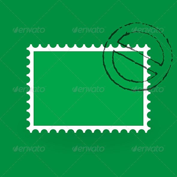 Saint Patrick Postage Stamp - Seasons/Holidays Conceptual