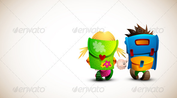 Birthday, Valentine Love Card  - Characters Vectors