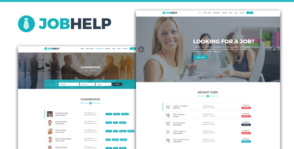 Jobhelp - Job Board PSD Template - Corporate PSD Templates