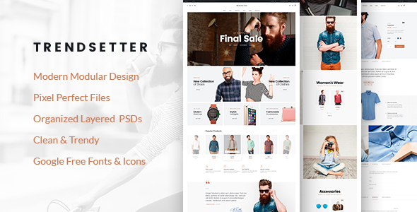 Trendsetter - e-Commerce PSD template - Shopping Retail
