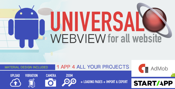 Android WebView App - Universal for all website - CodeCanyon Item for Sale