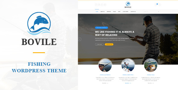 Bovile - Fishing WordPress Theme