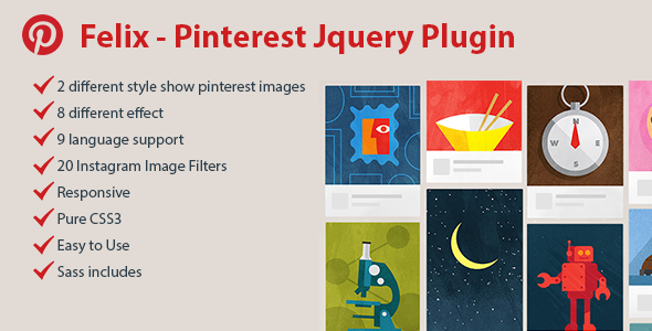 Felix - Pinterest Responsive Jquery Plugin - CodeCanyon Item for Sale