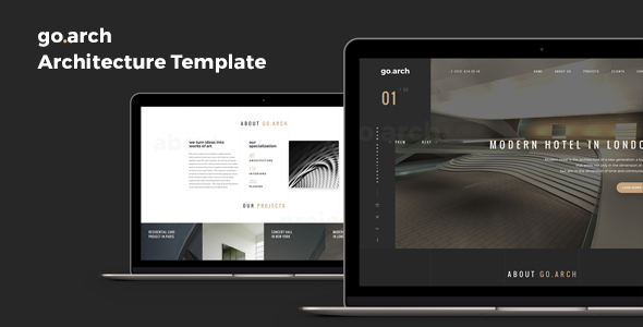 go.arch  – Architecture & Interior Template