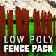 Low Poly Fence Pack - 3DOcean Item for Sale