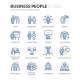 Line Business People Icons - GraphicRiver Item for Sale