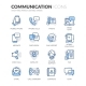 Line Communication Icons - GraphicRiver Item for Sale