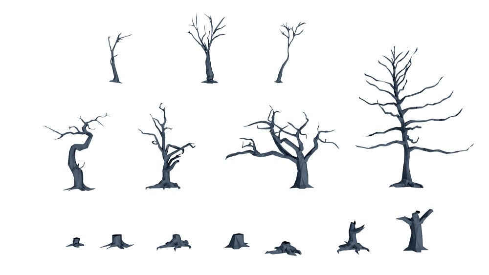 Dead Tree and Tree Stump Pack