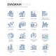 Line Diagram Icons - GraphicRiver Item for Sale