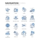 Line Navigation Icons - GraphicRiver Item for Sale