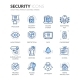Line Security Icons - GraphicRiver Item for Sale