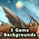 5 Fantasy and Medieval Game Backgrounds - Parallax & Stackable - GraphicRiver Item for Sale