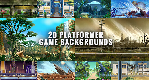 2D Platformer Game Backgrounds