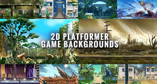 2D Platformer Game Backgrounds