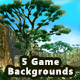 5 Platformer Forest Game Backgrounds - Parallax & Stackable - GraphicRiver Item for Sale