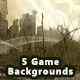 5 Destroyed City Game Backgrounds - Parallax & Stackable - GraphicRiver Item for Sale