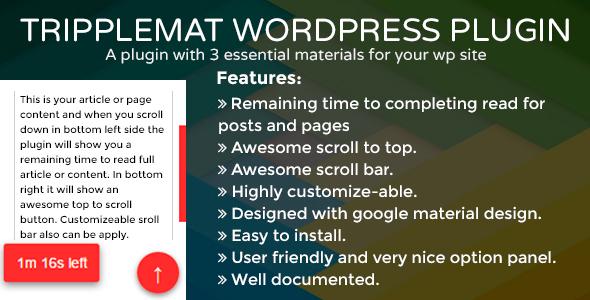 Tripplemat WordPress Plugin - CodeCanyon Item for Sale