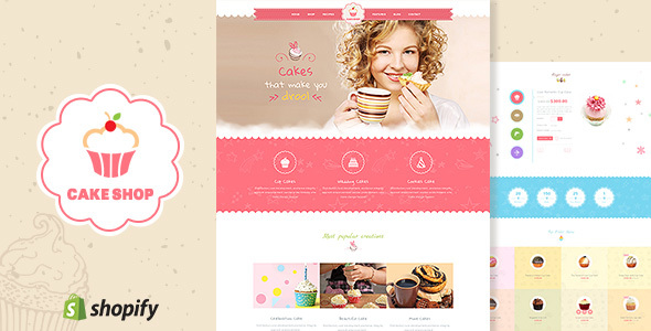 Cake Shop - Bakery, Cafe Shopify Theme