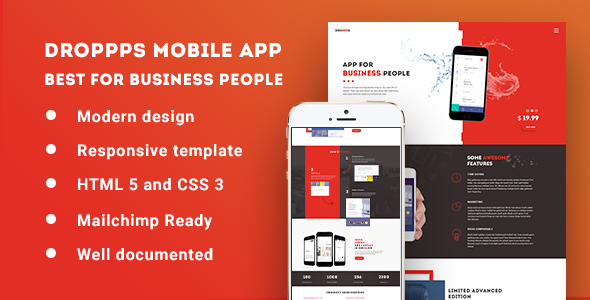 Droppps – Mobile app theme