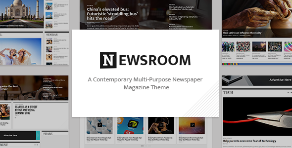 Newsroom – A Contemporary Multipurpose Newspaper / Magazine Theme - News / Editorial Blog / Magazine