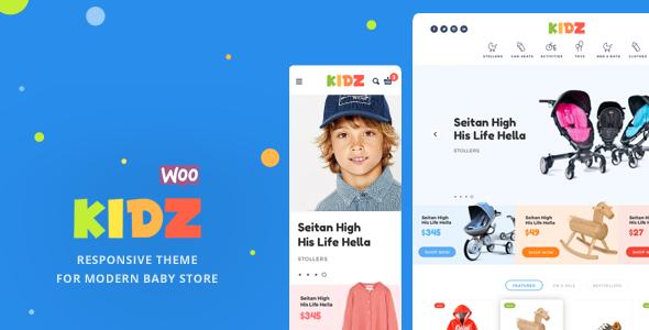 KIDZ - Baby & Kids Store WooCommerce Theme
