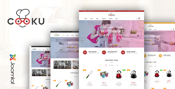 Vina Cooku – Clean, Simple VirtueMart Joomla Template
