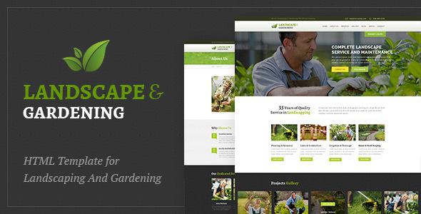 Landscape & Gardening HTML Template