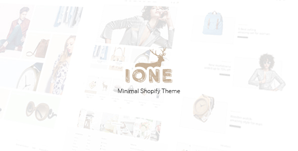 iOne – Minimal Responsive Shopify Theme
