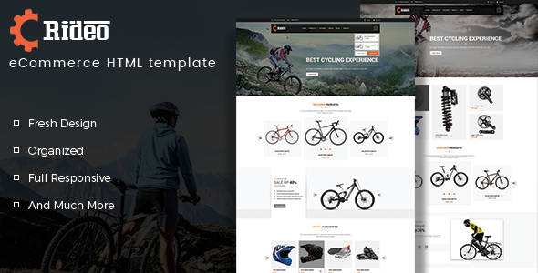 Rideo – eCommerce HTML Template