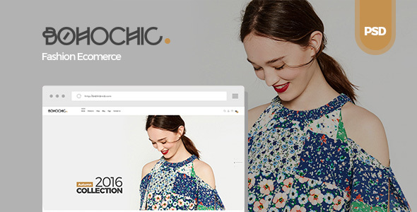 Bohochic – Ecommerce PSD Template