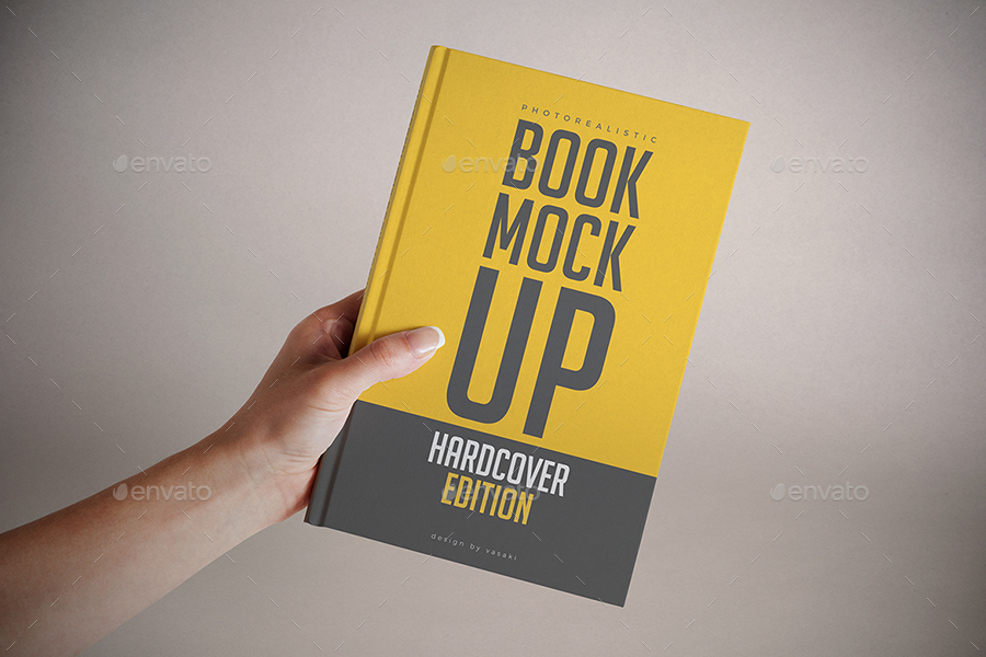 Hardcover Book Mock-up by vasaki | GraphicRiver