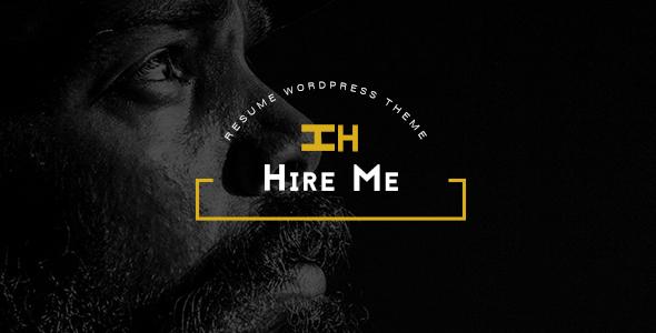 Hire Me - Personal vCard, Portfolio WordPress Theme