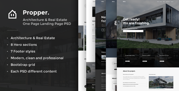Propper - Architecture PSD Template - Corporate PSD Templates