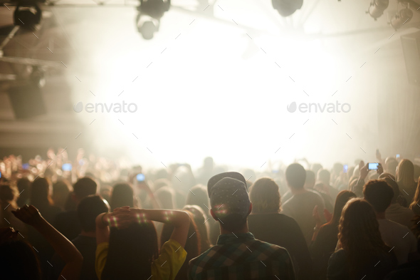 Young People at Music Concert Party - Stock Photo - Images