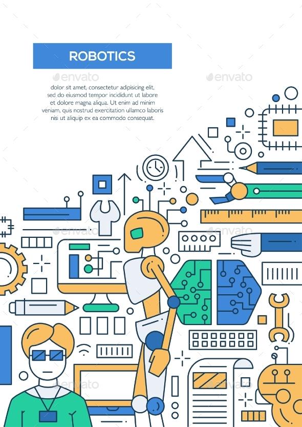 Robotics line design brochure poster template a4 by decorwm robotics line design brochure poster template a4 technology conceptual toneelgroepblik Gallery
