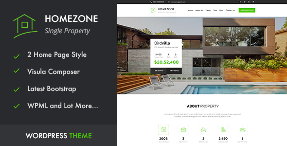 HOME ZONE - Single Property Real Estate WordPress Theme - Real Estate WordPress