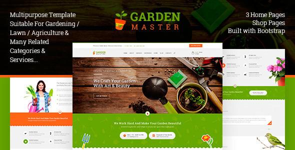 Garden Master HTML Templates
