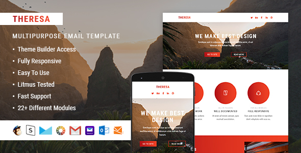 Theresa – Responsive Email + StampReady Builder - Email Templates Marketing